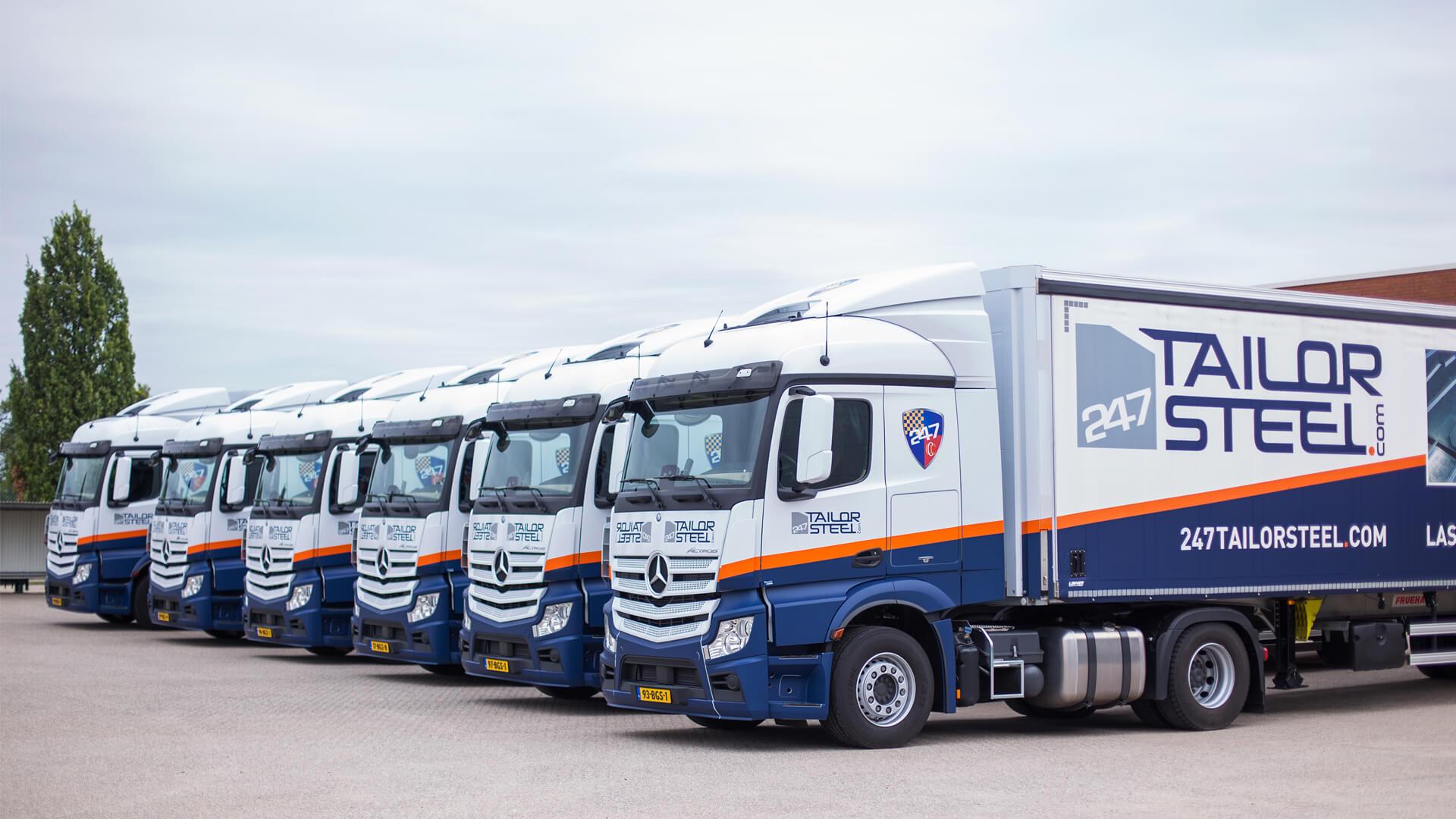 Metaalnieuws: Gevestigd 247TailorSteel met eigen vrachtwagens de weg op
