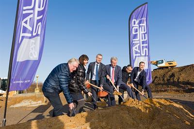 Der Bau von 247TailorSteel in Hilden hat begonnen