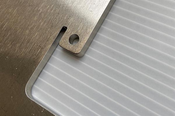 Kantafronding / silken van lasergesneden producten