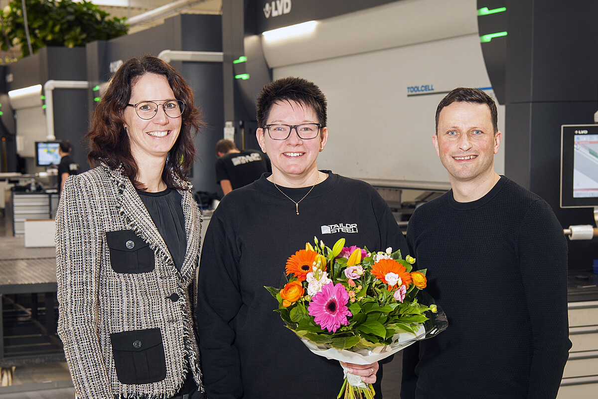 At our branch in Varsseveld we welcomed Irma last week, who will be joining our ranks as a sheet metal worker