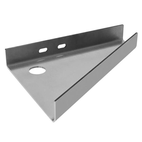 Machined steel plate